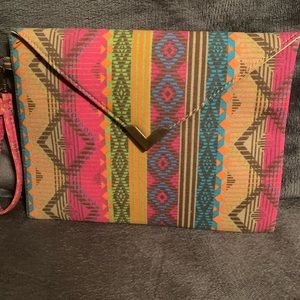 Handbags - Aztec print clutch
